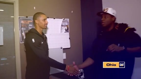 George Hill Meets with Veteran Scholarship Winner Quentin Brown