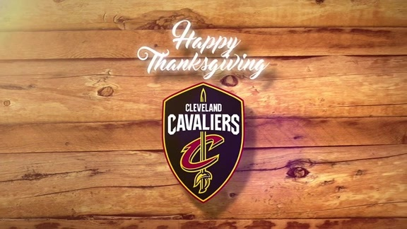 Happy Thanksgiving from the Cleveland Cavaliers!