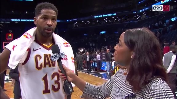 #CavsNets On-Court Postgame: Tristan Thompson