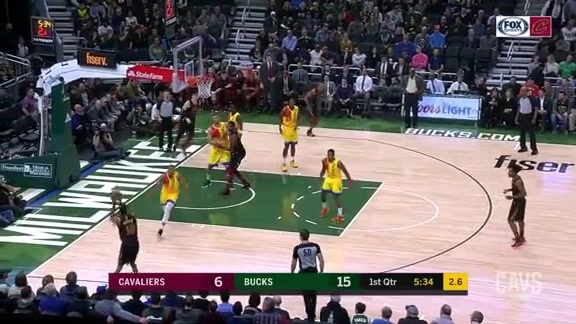 Cedi Tosses Long Dime to Burks for Three Points