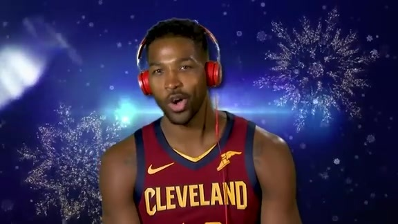 Cavs Players Show Off Singing Skills with Jingle Bells