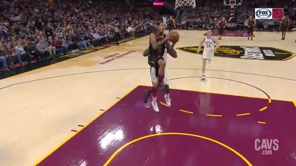 Clarkson Steals and Scores