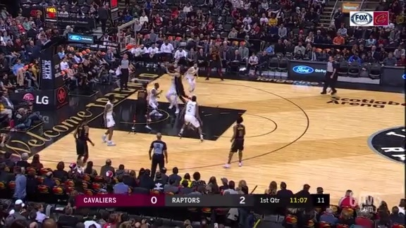 Cedi Spins and Scores for Cavs First Bucket
