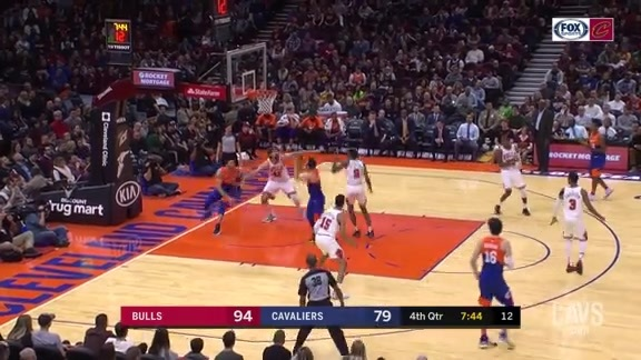 Delly Fakes Out Bulls Defender Beneath Basket