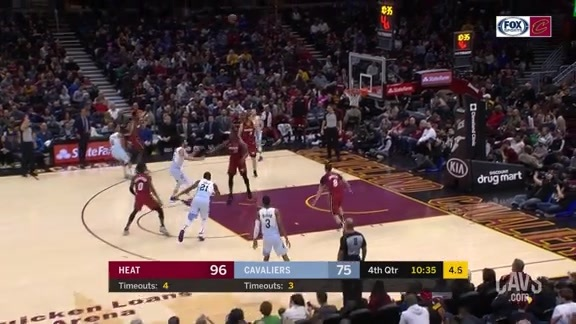 Clarkson Buries Three after In-Bounding Ball