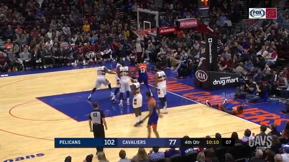 T.T. Cleans Up Beneath the Basket