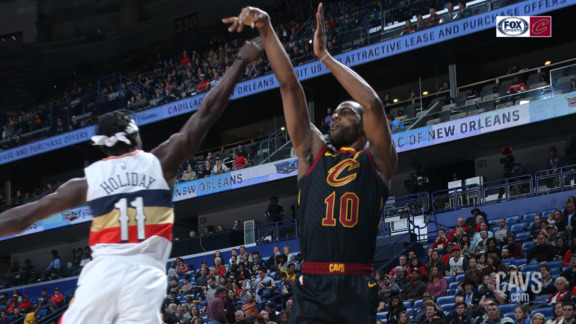 Cavs Go 8-for-8 on Triples in Opening Quarter