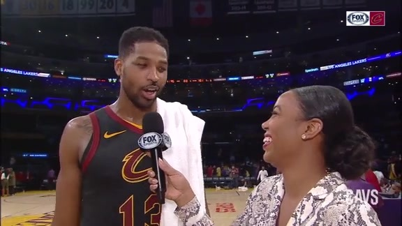 #CavsLakers On-Court Postgame: Tristan Thompson