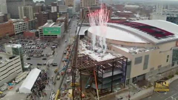 Go Behind-the-Scenes from the Topping Off Ceremony
