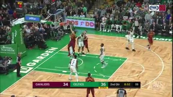 Zizic Spins, Drives and One-Hand Dunks It
