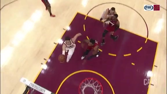 Cedi Drives Hard in the Lane before Canning the Layup