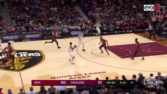 Clarkson Tosses Tough Assist to Delly for Three