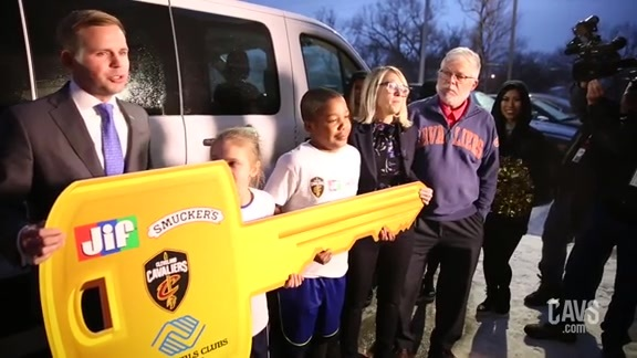 Boys & Girls Clubs Surprised with New Van Thanks to Cavs, Jif and Smucker's