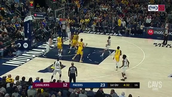 Ante Zizic Rattles the Rim in the First