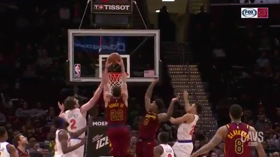 Nance Jr. with the Putback Slam
