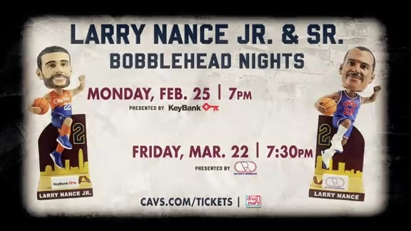 Larry Nance Jr. and Sr. Bobblehead Nights