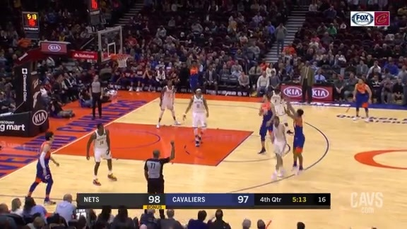 Clarkson Gives Cavs Lead with Long Three