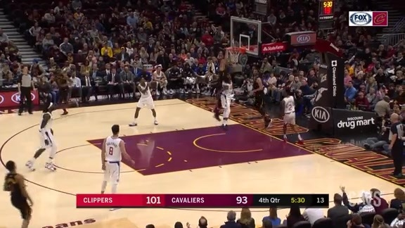Nance Jr. Finishes the Play with a Two-Handed Jam