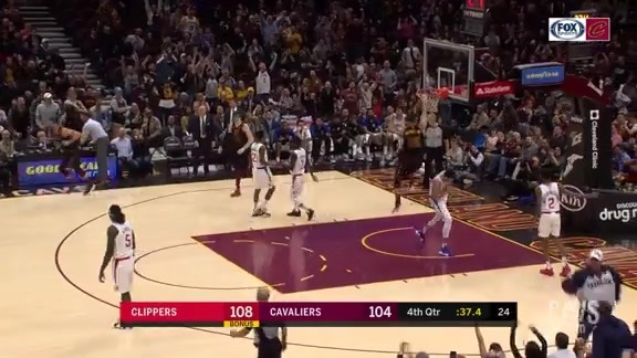 Larry Rocks The Q with Third Dunk of the Night