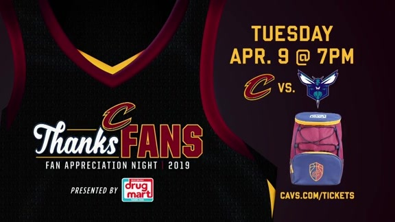 Fan Appreciation Night on April 9