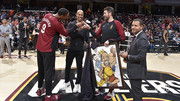 Cavs Gift Channing Frye a Special Portrait