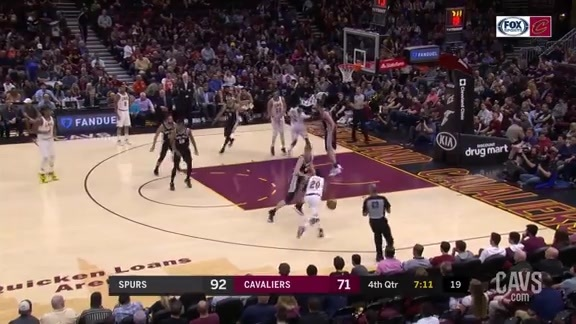 Knight Shows Off Some Sick Moves before Scoring the Layup