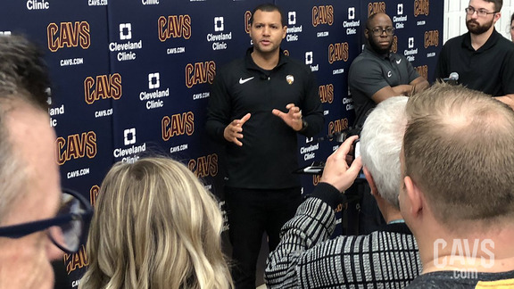 Koby Altman Speaks with the Media