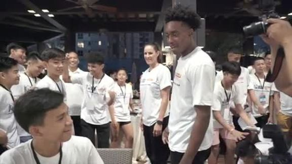 Day 2: Sexton Meets Jr. NBA Philippines Participants