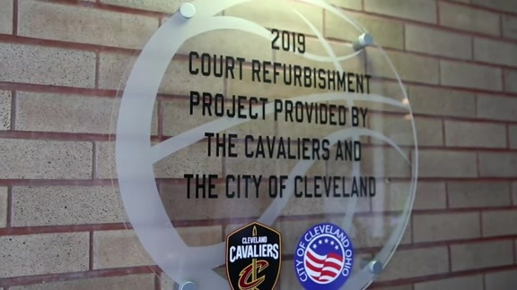 Cavs, City Unveil Refurbished Court For Hough Neighborhood