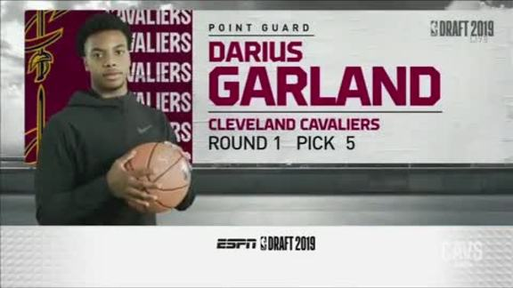 Cavs Select Darius Garland with the 5th Pick