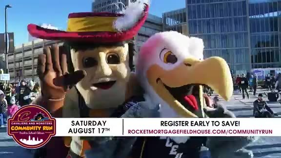 Register Now for the Cavs and Monsters Community Run on August 17