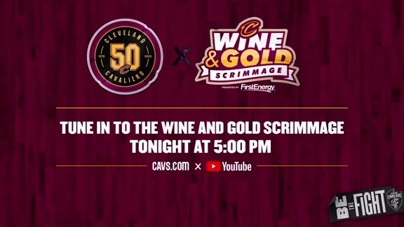 Tune in to Cavs.com for the Wine & Gold Scrimmage