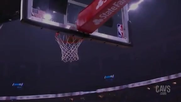 Larry Nance Jr. Threads Needle to T.T.