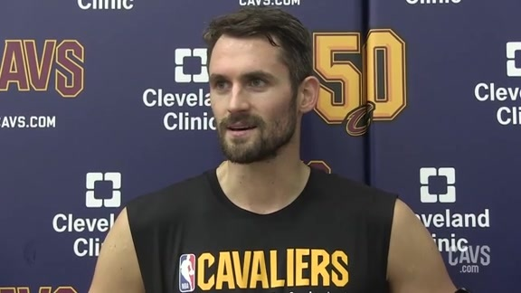 Cavs vs. Pacers Practice: Kevin Love