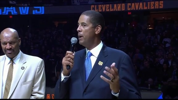 Cavs Legends Honored Before Saturday's Game
