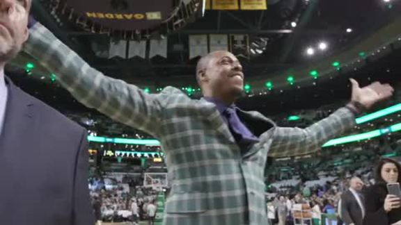 What's it like to watch a game with Pierce?