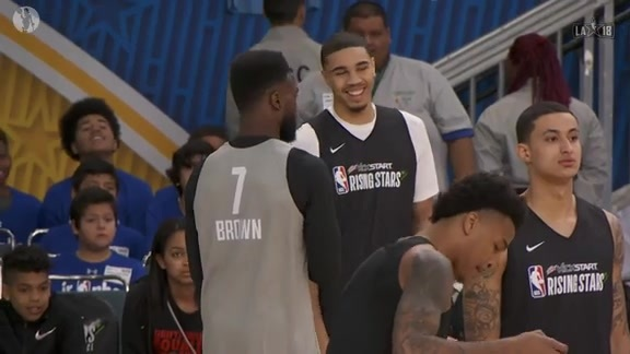 Brown and Tatum are Soaking it All in at All-Star Weekend