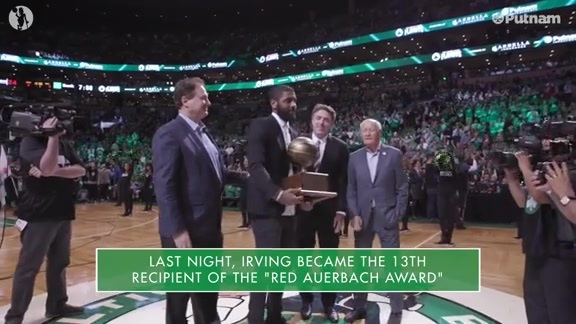 4/25 Putnam Celtics Daily: Irving Receives Auerbach Award