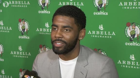 Irving Has Wide-Ranging Conversation with Media