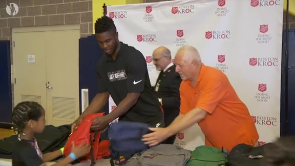 Ojeleye Visits Kroc Center