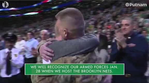 11/12 Putnam Celtics Daily: Happy Veterans Day, from the Celtics