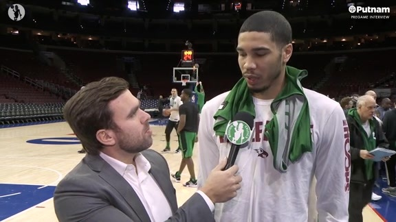 3/20 Putnam Pregame Interview: Tatum on the Sixers