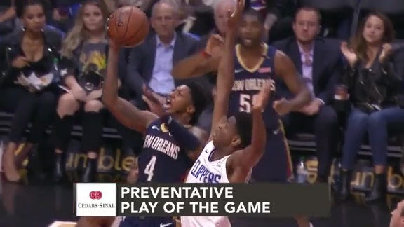 Cedars-Sinai Preventative Play of the Game | Clippers vs. Pelicans (1.14.19)