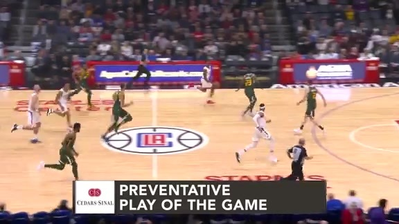 Cedars-Sinai Preventative Play of the Game | Clippers vs. Jazz (1.16.19)
