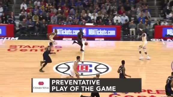 Cedars-Sinai Preventative Play of the Game | Clippers vs. Warriors (1.18.19)