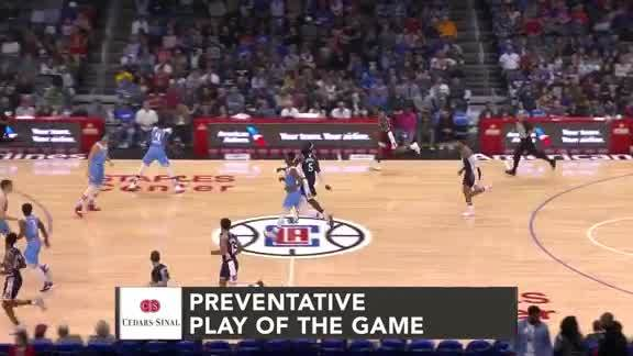 Cedars-Sinai Preventative Play of the Game | Clippers vs. Kings (1.27.19)