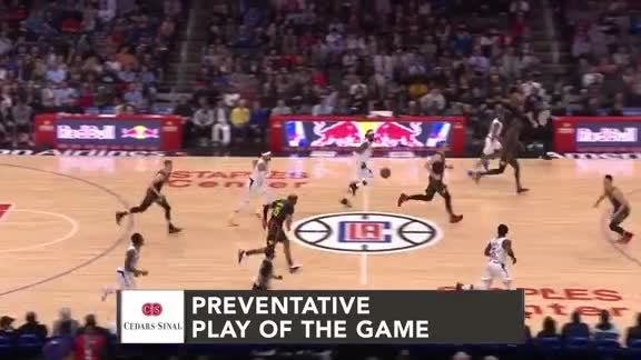 Cedars-Sinai Preventative Play of the Game | Clippers vs. Hawks (1.28.19)