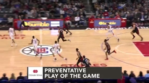 Cedars-Sinai Preventative Play of the Game | Clippers vs. Suns (2.13.19)