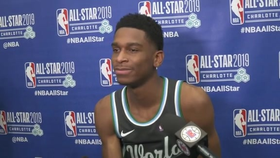 Rising Stars Post-Game Sound | Shai Gilgeous-Alexander (2.15.19)