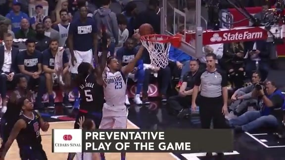 Cedars-Sinai Preventative Play of the Game | Clippers vs. Mavericks (2.25.19)